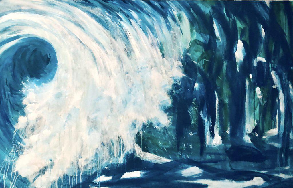 Antje Liebscher | Welle am Abhang